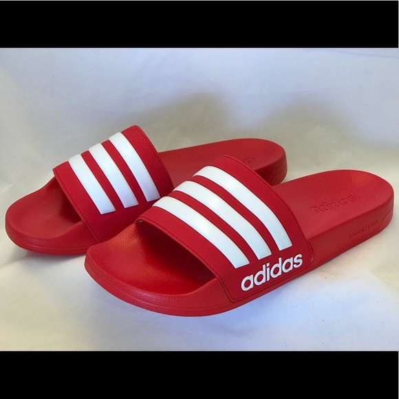 0ea672f5 Adidas Adilette Shower Slides Men's Red Slippers NWT